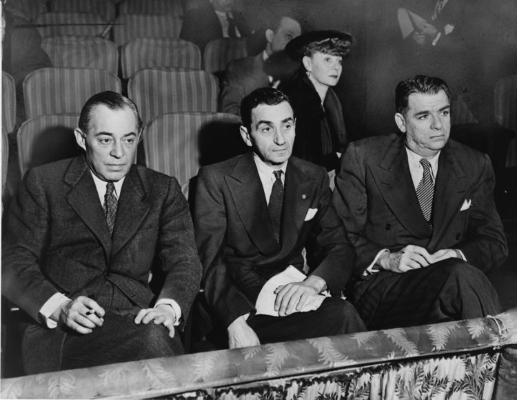 Rodgers (left) and Hammerstein (right) during samples at  St. James Theater