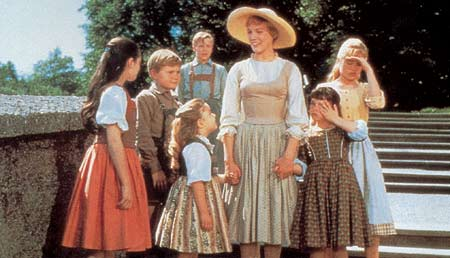 Maria with children - scene out of the film