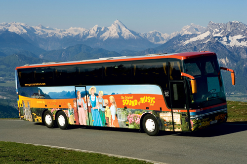 The Sound of Music tourbus today