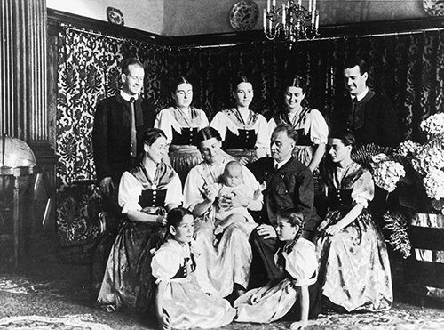 The original Trapp family with the youngest Johannes
