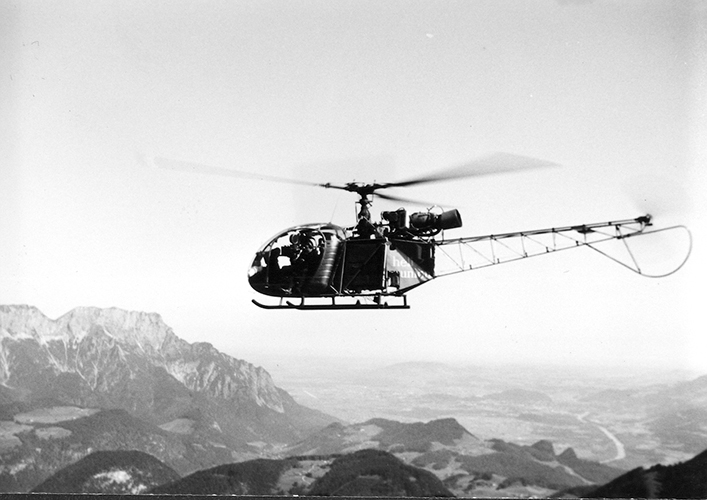 Helicopter for shooting The Sound of Music